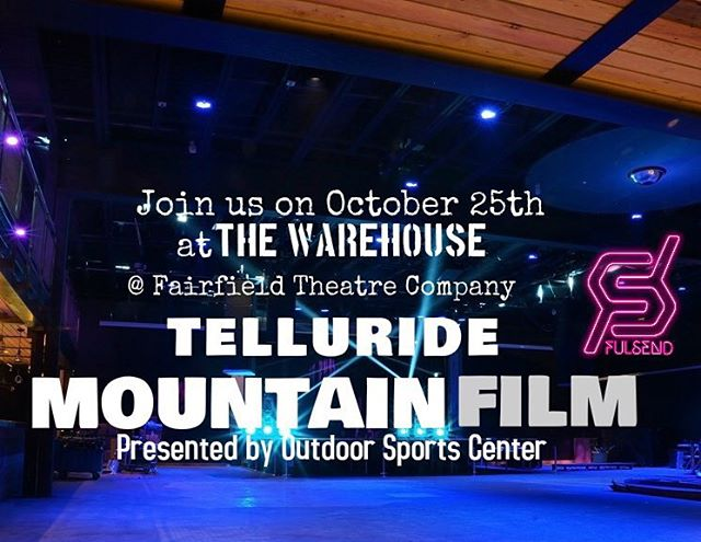 This Sunday 10/25 Adventure Sports Festival #winteriscoming #skiing #snowboarding #JustSendIt #adventure  #fairfieldct @outdoorsportscenter #fairfieldtheatercompany @mountainfilm