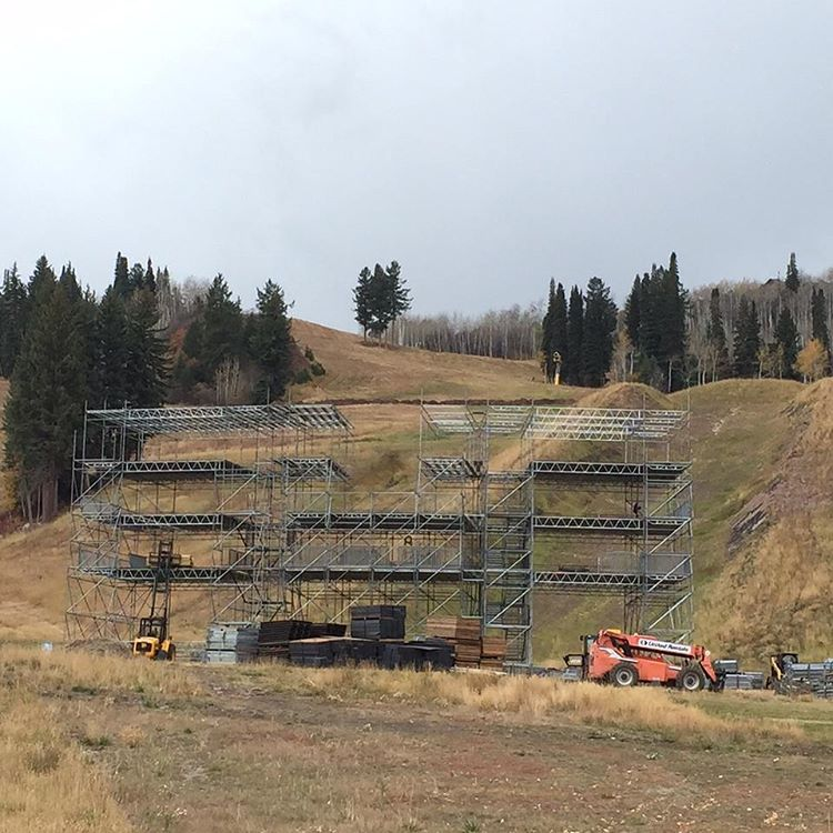 We got the control tower goin' up, on a Tuesday!  #XGames Aspen is goin' down Jan. 28-31 at Buttermilk Mountain.