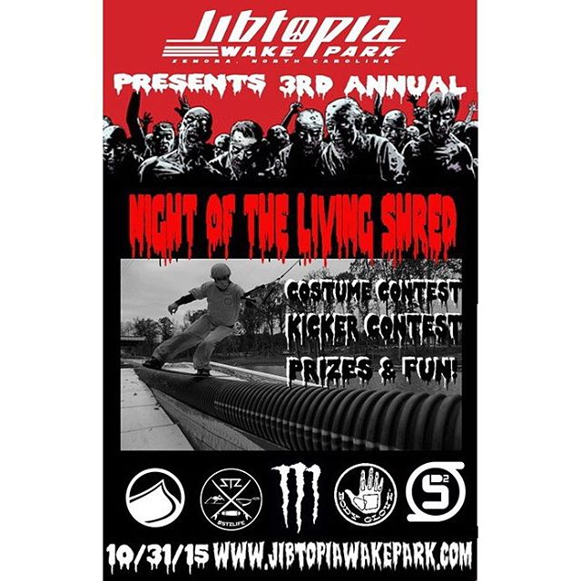 @jibtopia presents Night of the Living Shred October 31st!  This is the last bash of the year... Dress to impress and dare to be scared!