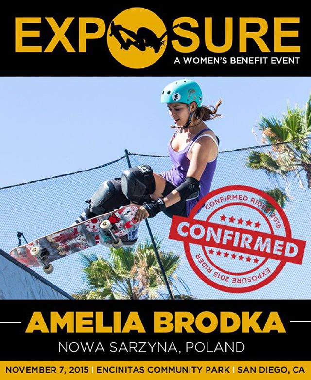 Amelia Brodka (@ameliabrodka) confirmed for EXPOSURE 2015!