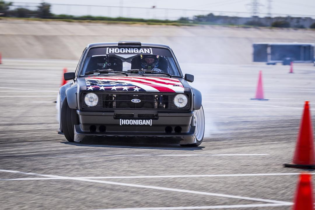 Salute the boss, @kblock43 as he tests out the Escort's  9000 RPM rev limiter. #GymkhanaEscort