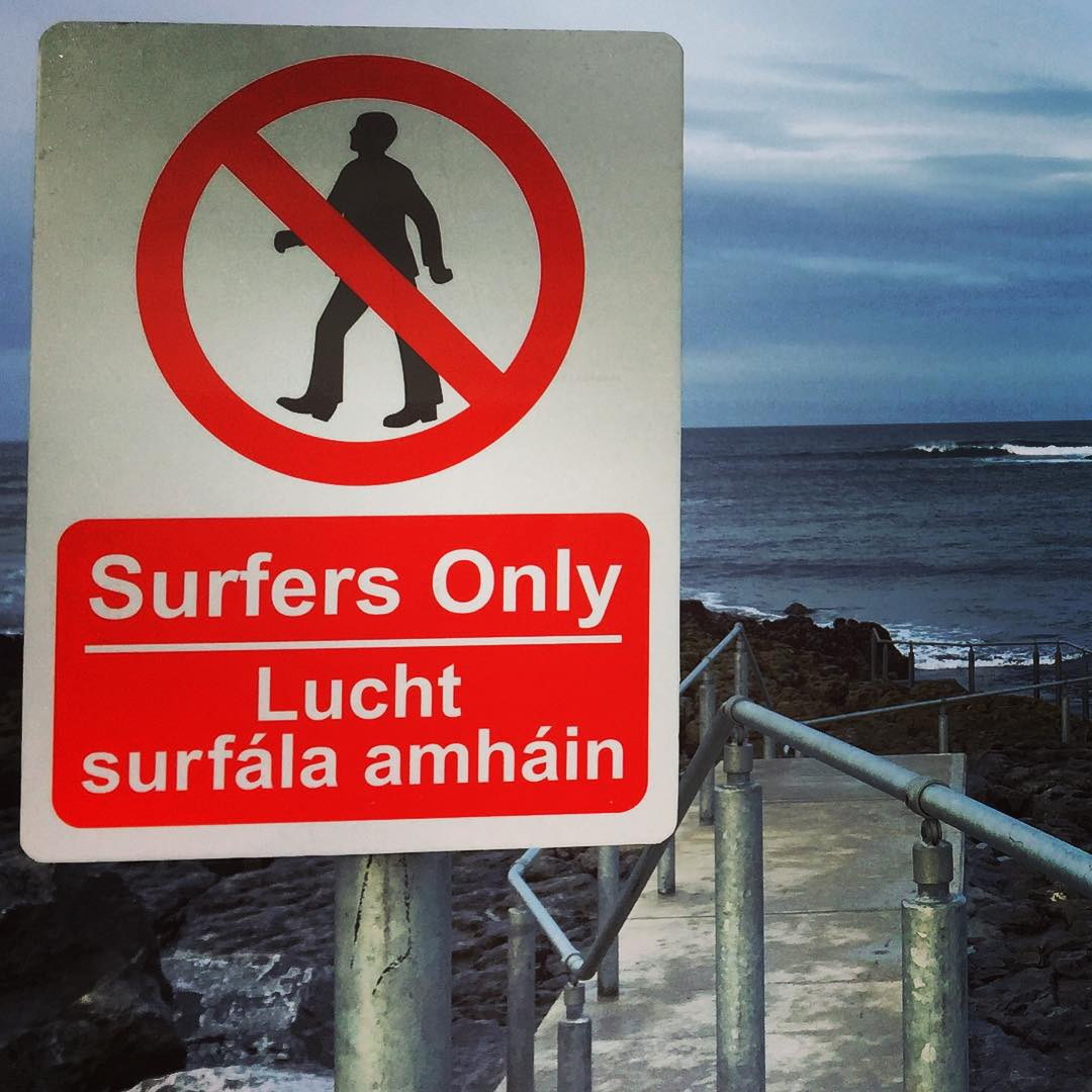 Saw a lot of unusual signs while over in #Ireland, but this one  guarding the walkway to the ruler edged rights peeling off of #CrabIsland gets top honors.