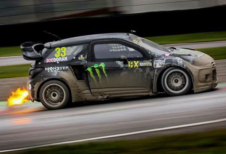 Tackling the challenging track conditions at Italy World RX event last weekend. @fiaworldrx