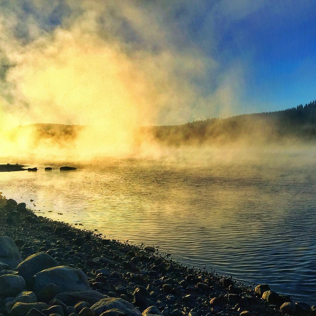 #MorningDeepThought... The fog can obscure or restrict your visibility - or it can help you take a minute and slow down to be present with your thoughts, to move forward with clarity... #DonnerLake | #ChoosePositivityNow.com