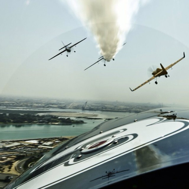 Smoke on Abu Dhabi. #redbullairrace #airrace #aerobatics