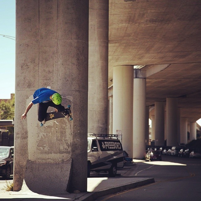 Daniel Clay, #Shredhard #Freebord #steezing #underpass