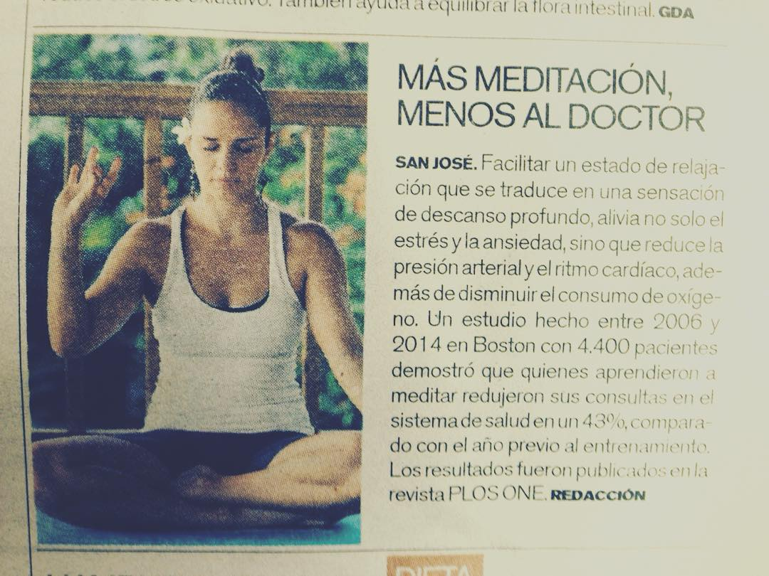 Our own @pilsallo appearing in @lanacion - Costa Rica's national newspaper! #yoga #yogateacher #costaricayoga