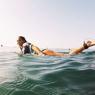 LUV SURF @olivia.doan #luvsurf #wearthecalidream #surf #luvsurfgirl #ocean #seekthesea