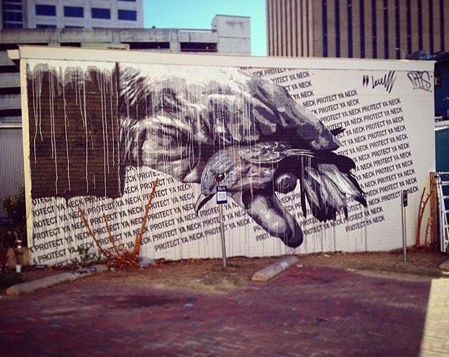 Finished mural by: • • @davelowell | @nilsrva • • #atx #austintx #texas #tx #spratx #protectyaneck #mural #art #mockingbird