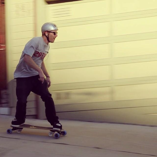 Mike Hoppe #shralping #SF sidewalks #Freebord #Snowboard