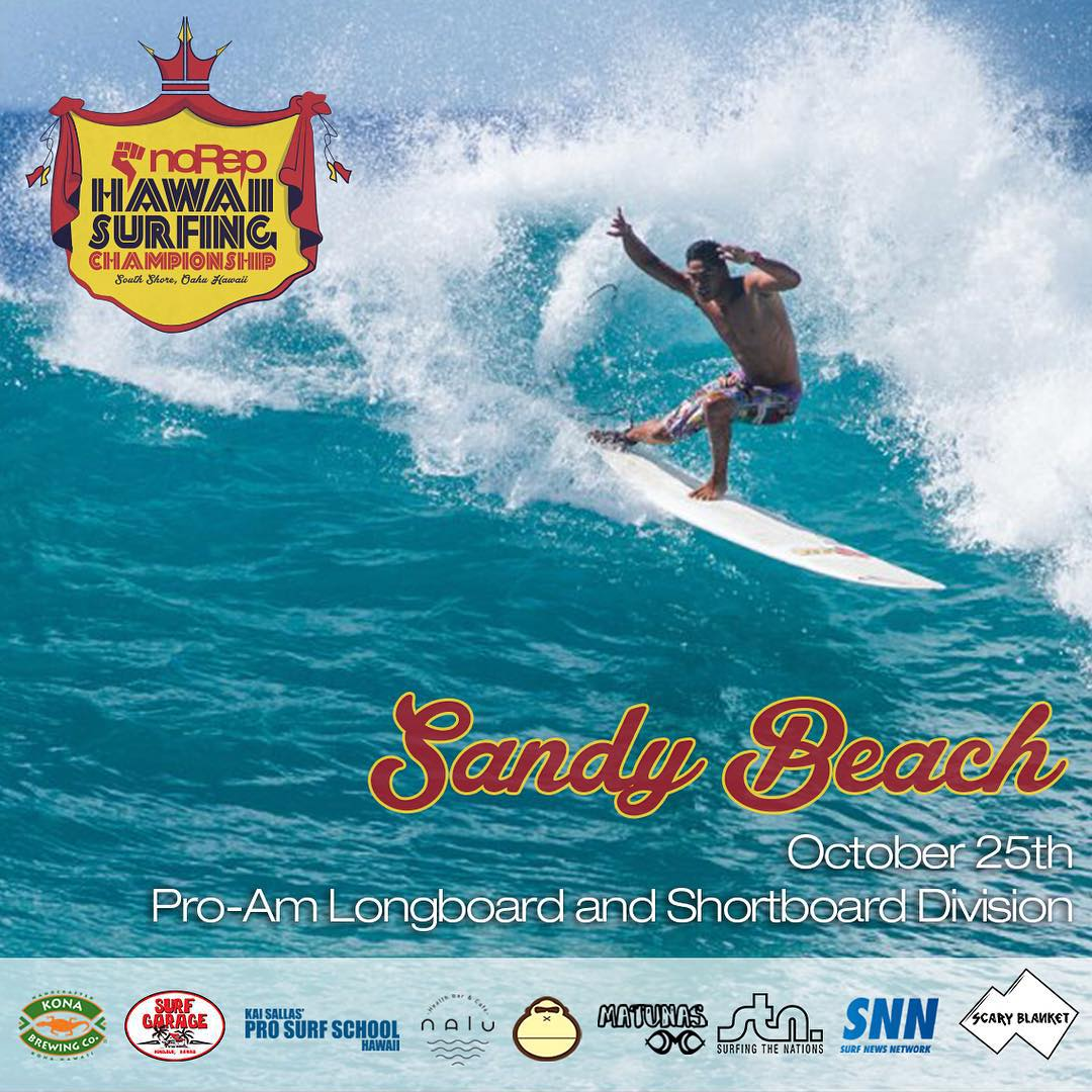 By looks of the forecast the waves are going to be pumping this Sunday at Sandys for the final leg of the Hawaii Surfing Championship! We still have spots open for the longboard and shortboard divisions so if you haven't entered yet, hurry before they...