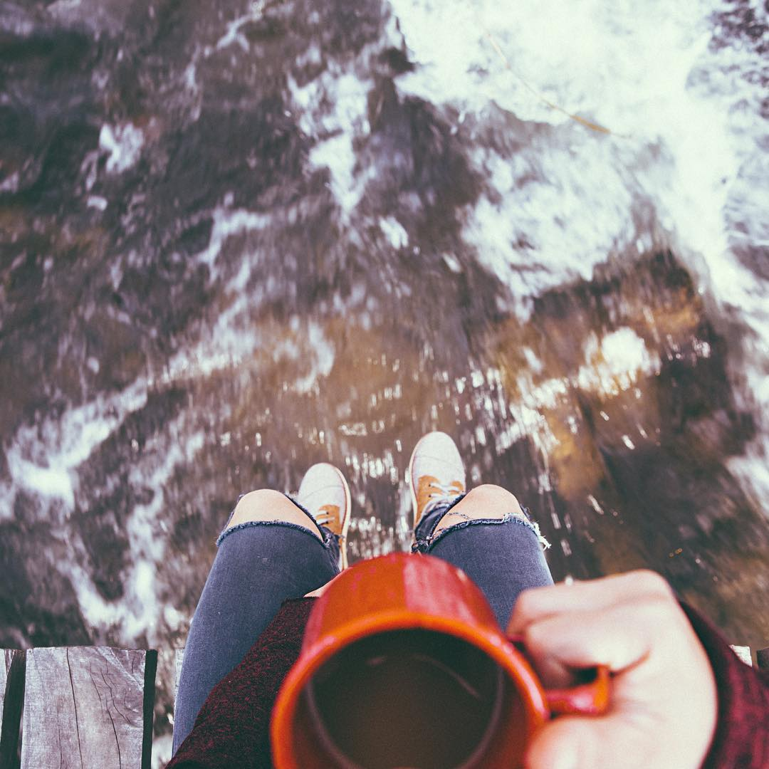 Wish I could have my morning coffee with that view, probably it means that I've slept on a tent or a bungalow.