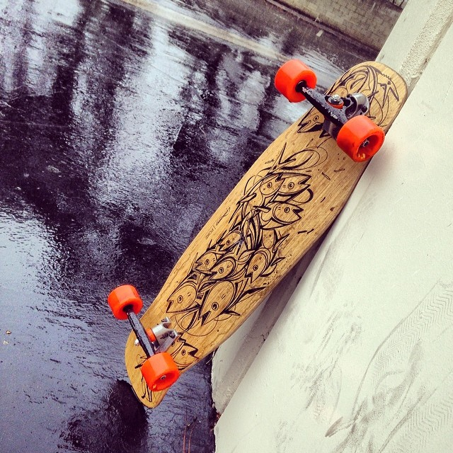 A rare rainy day here at Loaded! Who's staying dry and who's playing in the rain today?  #loadedboards #poke #orangatang #fatfree