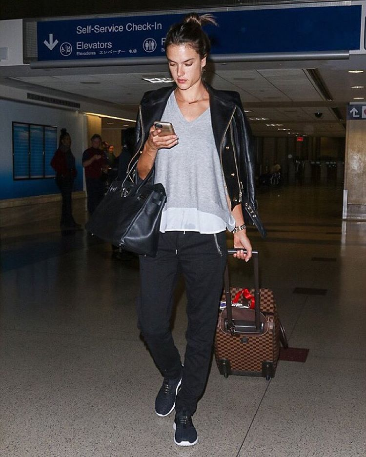The only true way to achieve airport chic? Get HICKIES on your feet. Just ask Victoria's Secret Angel, Alessandra Ambrosio. #ReplaceTheLace #modeloffduty