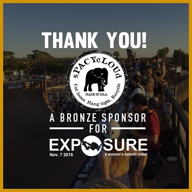 Thank you to @spacycloud confirmed to be a bronze sponsor for Exposure 2015!! There are plenty of partnership opportunities still available, email partnerships@exposureskate.org to find out how you can help empower girls through skateboarding!