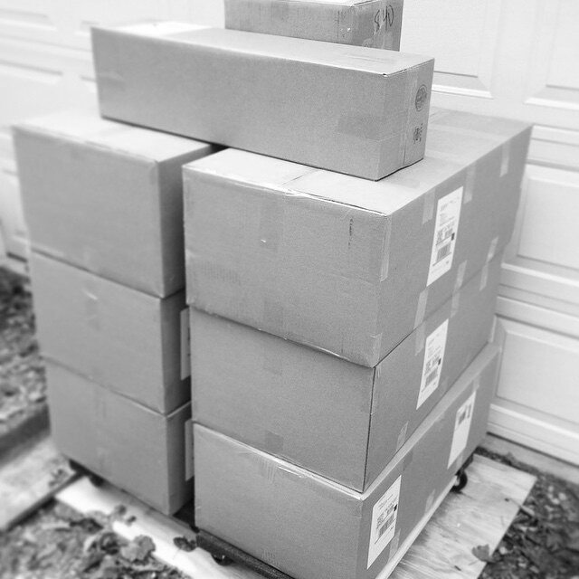 Morning orders are boxed and ready for shipment this afternoon! Thanks for all the support!  #shippingboxes