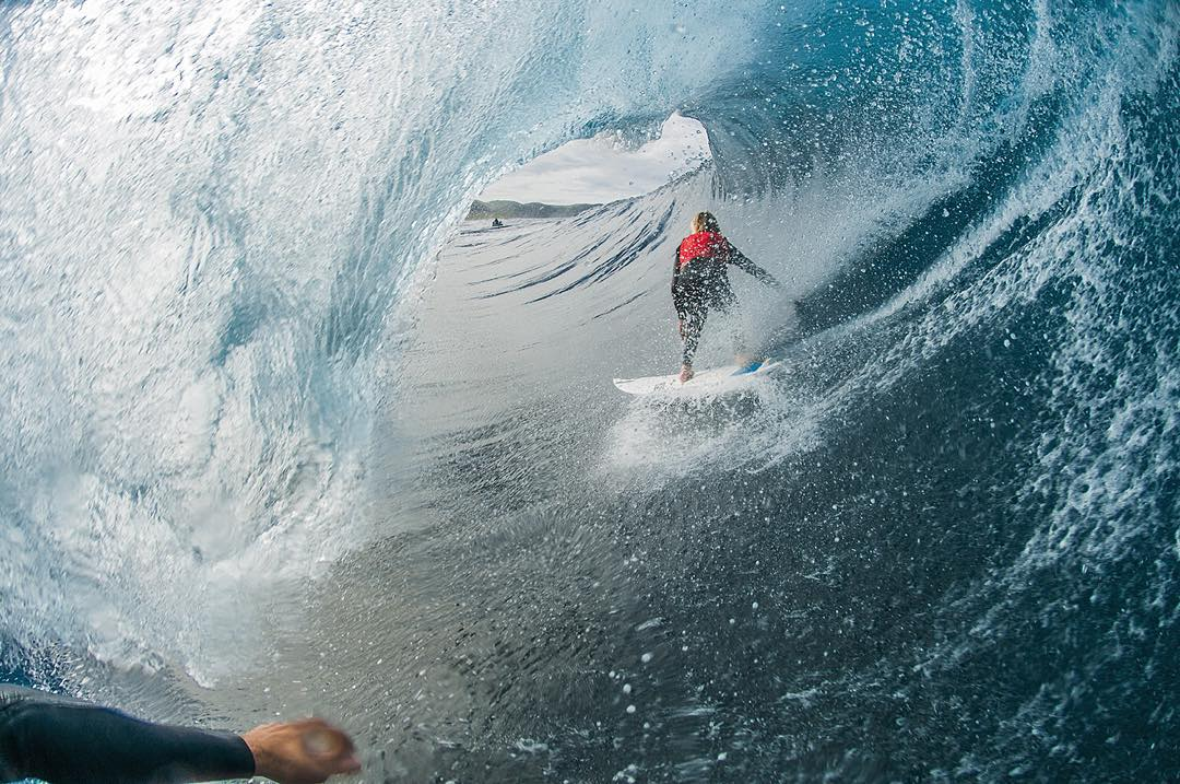 @jackrobinson_official packs enormous barrels deeper than just about anyone, but @bradleynorris took the cake in this case to get this insane image of Jack. #Billabongwetsuits