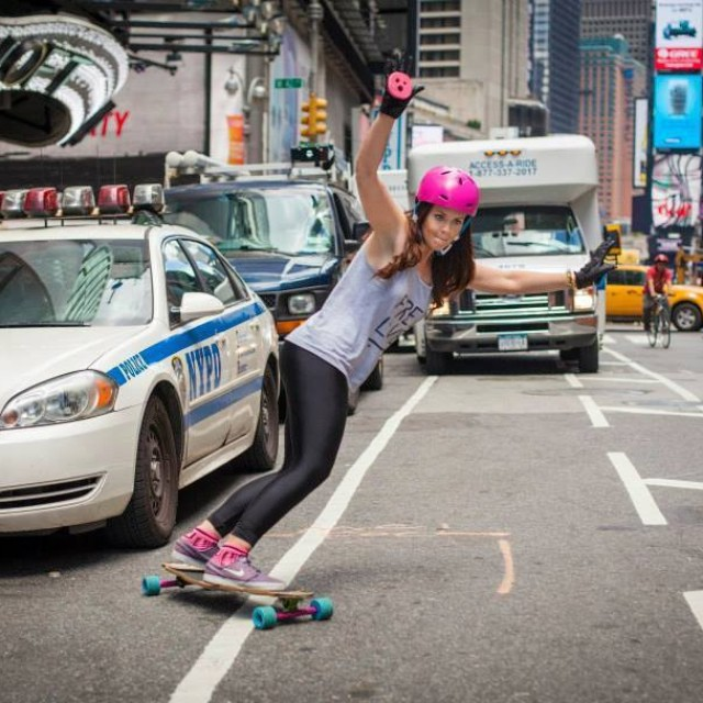 @lynders hits #nyc streets with style! Getting ready for #BroadwayBomb everyone? Pic @khaleeqvision