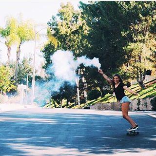 SMOKE SHOW #luvsurfgirl @olivia.doan #skate #smokeshow #luvsurf #liveyourdream #awesome