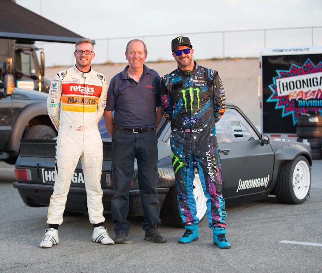 #GymkhanaEscort family photo! Ha. That's Mr. @RyanTuerck on the left, the guy that's going to be driving my Ford Escort Mk2 RS this weekend at Gymkhana GRID. And in the middle is Graham Quick, the man who built everything but the arches on the car -...