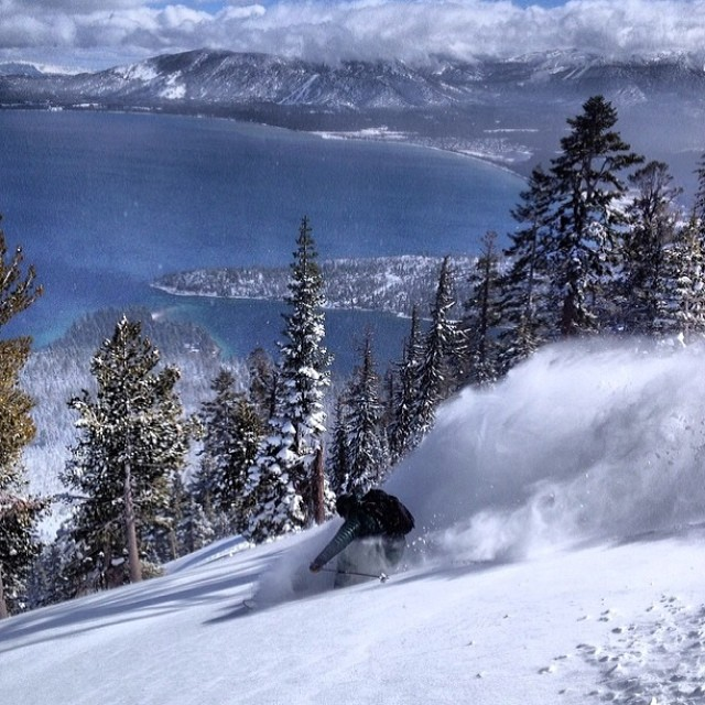 It is snowing in Tahoe!  Thank the sweet gods of snow.  Photo: @jeremywbenson