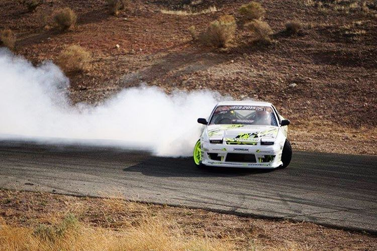 Our dude Rob @chairslayer Parsons partying down Horse Thief Mile in his 600hp 180sx. #ASB15