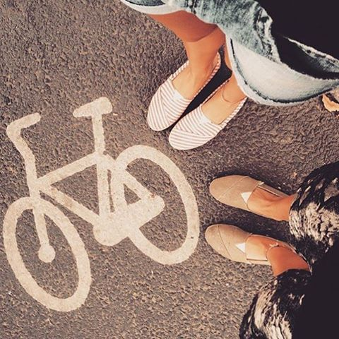 It's always better by bicycle ✌