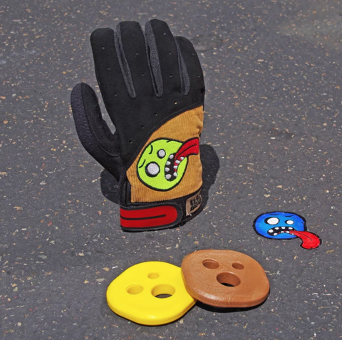 Clothing - Concrete Coast Cords Slide Gloves with Tropical Pucks