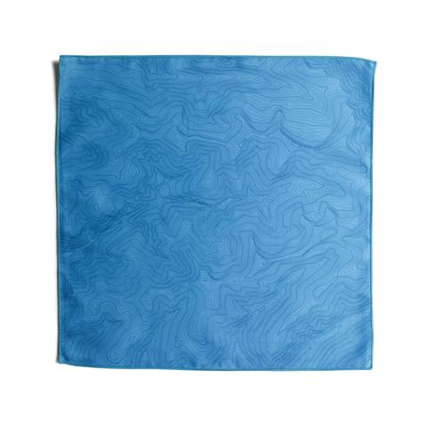 Tees - Kind Design TOPO POCKET SQUARE / CYAN
