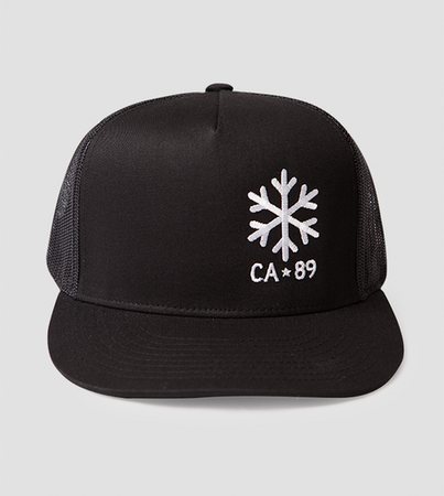 Ball Caps & Snapbacks - California 89 Trucker Hat Snowflake