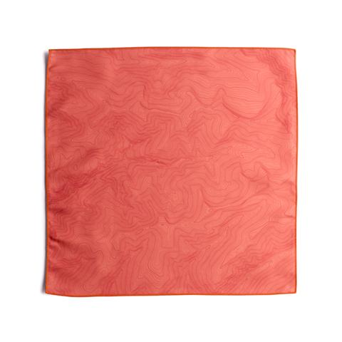 Tees - Kind Design TOPO POCKET SQUARE / CORAL