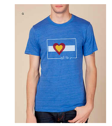 Tees - Big Colorado Love Fight Like Jenn Men's Crew: Royal