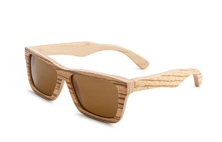 Bosky Optics Kiwara Zebrawood Sunglasses Polarized Brown Lens