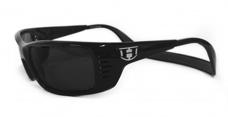 Sunglasses - Hoven Vision MEAL TICKET Black Gloss / Grey Polarized