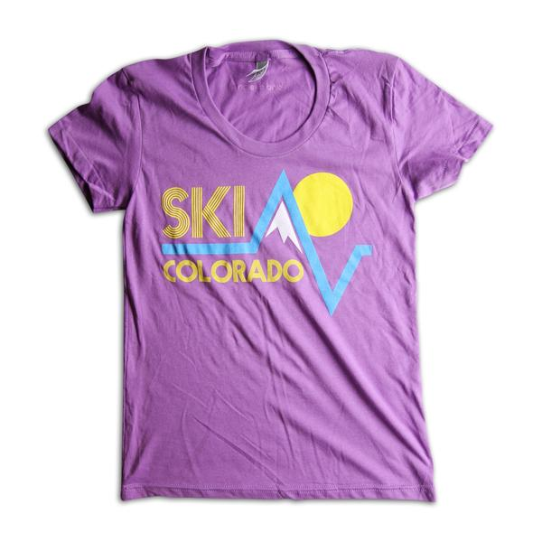 Tees - Kind Design Ski Colorado T-Shirt (Orchid / Women)
