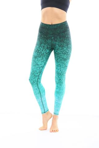 Leggings - Okiino Emerald Scales Leggings
