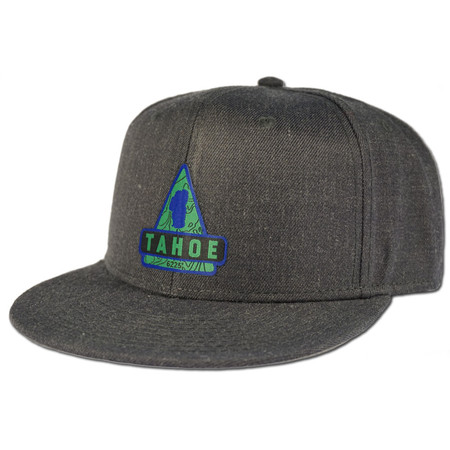 Rise Designs Lake Tahoe Triangle Snapback Hat - Heather Black