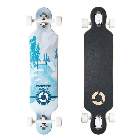 Concrete Coast Limited Art Series Longboard - Winter Wonderland
