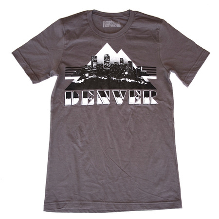 Tees - So-Gnar Denver Retro Skyline - Gray