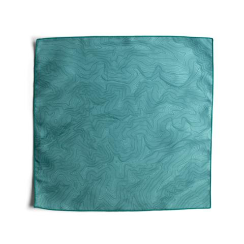 Tees - Kind Design TOPO POCKET SQUARE / TEAL