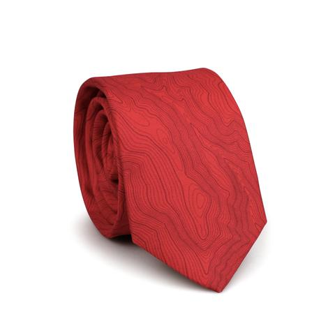 Tees - Kind Design SKI AREA TOPO TIE / POWER RED