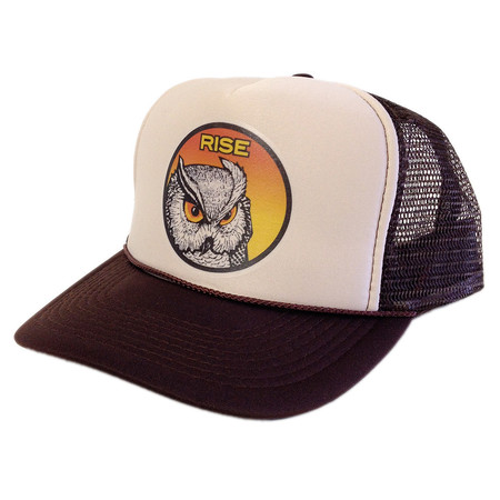 Rise Designs Wise Owl Trucker Hat - Brown Khaki