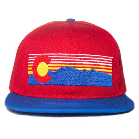 Ball Caps & Snapbacks - Concrete Coast Mt. Evans Colorado Hat - Red