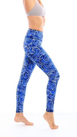 Leggings - Okiino Hawaii Waves Leggings
