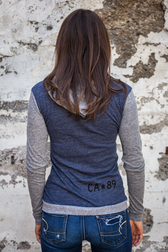 California 89 Women's Lightweight Pullover, Wall Graphic Front