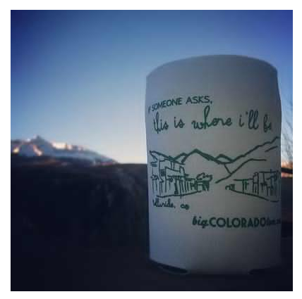 More - Big Colorado Love Koozie: Telluride