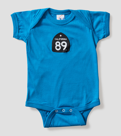 More - California 89 BABY'S ONESIE SHIELD FRONT