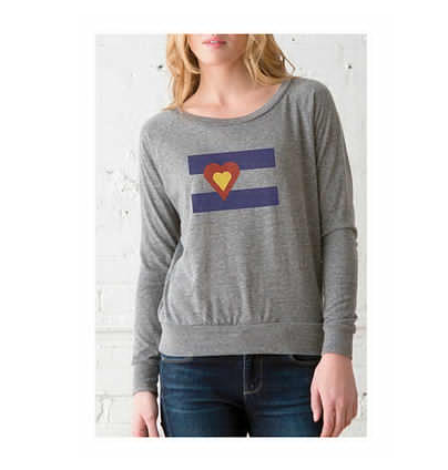 Long Sleeve - Big Colorado Love Gray pullover