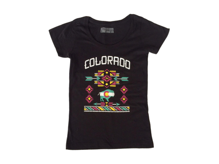 Tees - So-Gnar Colorado Buffalo Woman Tee