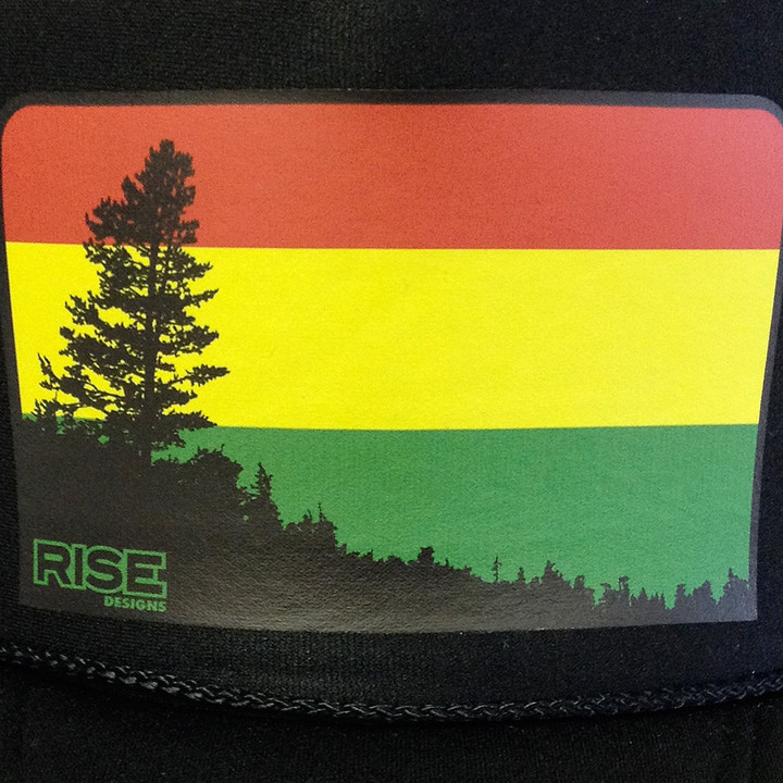 Rise Designs Tahoe Irie Vibes Trucker Hat - Black